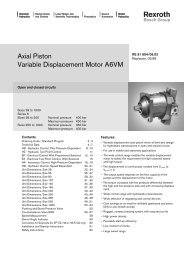 Axial Piston Variable Displacement Motor A6VM - Group VH A/S