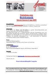 Bezirksmusik- Street-Soccer-Cup 2009 - Gmunden