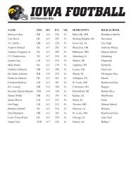 2010 Iowa Signees - Hawkeye Nation
