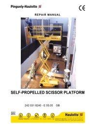 self-propelled scissor platform - AJ Maskin AS