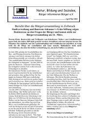 Bericht über die Bürgerversammlung - NABIS e.V.