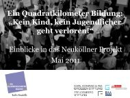 Einblicke in das Neuköllner Projekt Mai 2011 - Ein Quadratkilometer ...