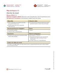 Plan de leçon no 3