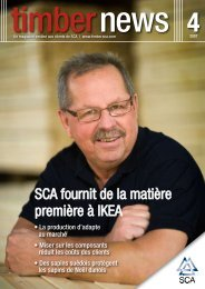 SCA fournit de la matière première à IKEA - SCA Forest Products AB