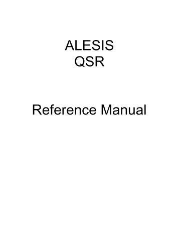 QSR Reference Manual - Alesis