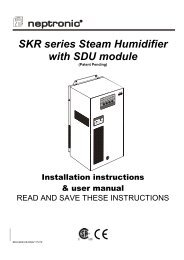 SKR series Steam Humidifier with SDU module - Neptronic