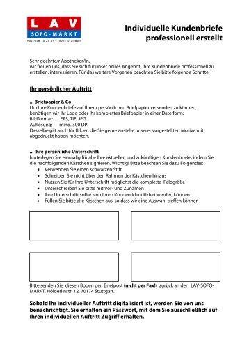 Individuelle Kundenbriefe professionell erstellt