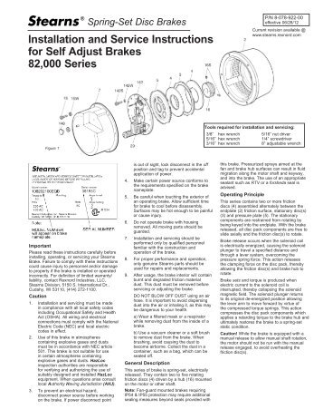 P/N 8-078-922-00 - Stearns - Rexnord