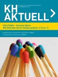 Viele Köpfe – bessere Ideen - Kreishandwerkerschaft Ruhr