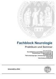 Praktikumsheft Fachblock Neurologie - Zentrum für Neurologie und ...