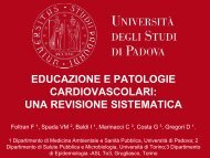 educazione e patologie cardiovascolari: una revisione sistematica