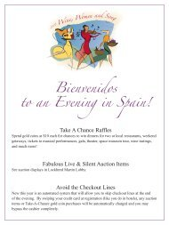 a List of Live Auction Items. - Strathmore