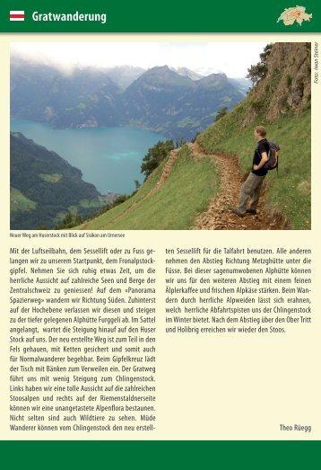 Gratwanderung - Tourismus der Gemeinde Illgau