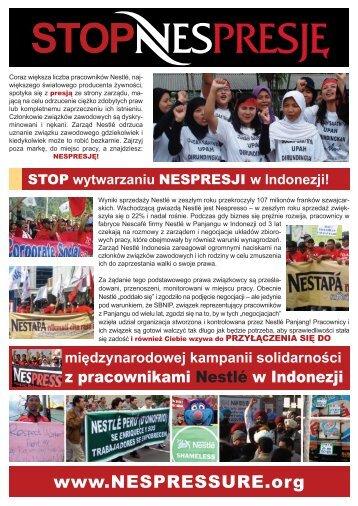 Pracownicy Nestlé w Indonezji - IUF