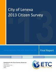 Download the complete survey (PDF) - City of Lenexa