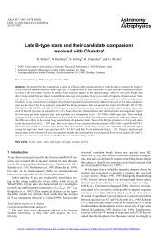 Late B-type stars and their candidate companions resolved with ...