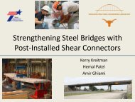 Strengthening Steel Bridges with Post-Installed Shear Connectors