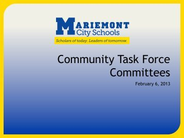 the initial February 2013 presentation - Mariemont City Schools