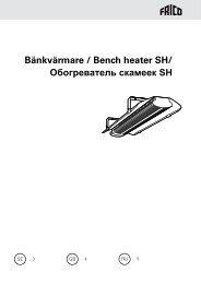 Bänkvärmare / Bench heater SH/ Обогреватель скамеек SH