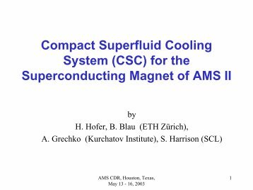 Compact Superfluid Cooling System (CSC) for the Superconducting ...