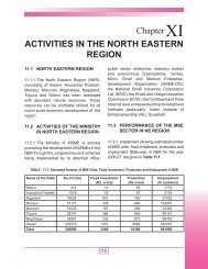 Activities in the North Eastern Region - Ministry of Micro, Small and ...