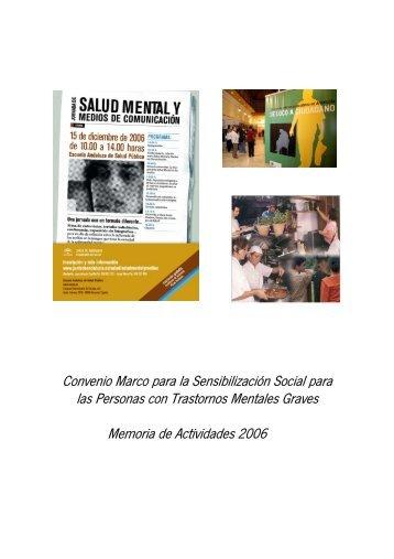 Acceso a la memoria del Convenio Marco Sensibilización 2006
