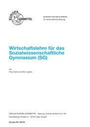 Wirtschaftslehre für das Sozialwissenschaftliche Gymnasium (SG)