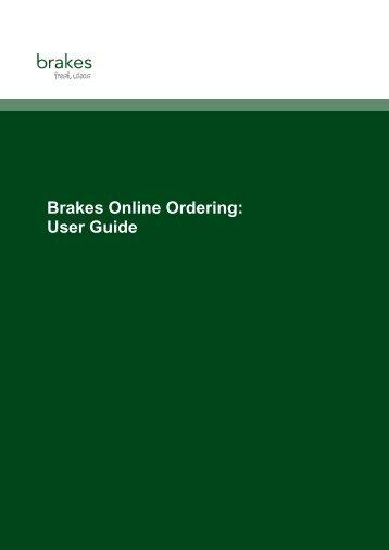 Online ordering - Brakes