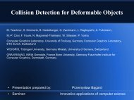 Collision Detection for Deformable Objects