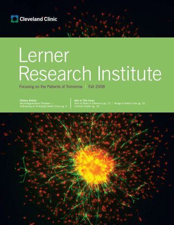 Fall 2008 - Cleveland Clinic Lerner Research Institute