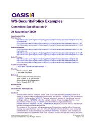 OASIS Specification Template - OASIS Open Library