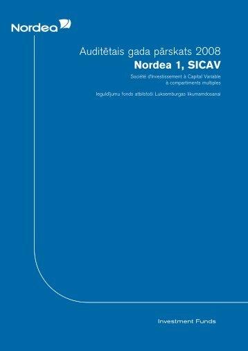 Audite¯tais gada pa¯rskats 2008 Nordea 1, SICAV - Nordea Bank ...