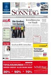 Terrorhinweise vor Finale - Potsdamer Neueste Nachrichten