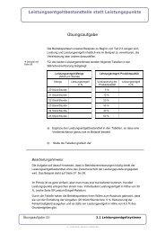 Leistungsentgeltbestandteile statt Leistungspunkte ... - IG Metall
