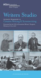 Writers Studio - UCLA Extension