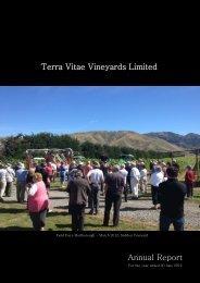 Annual Report 2012.pdf - Terra Vitae Vineyards
