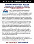 For EXhibitors - Professional Housing Management Association - Page 3