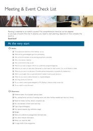 Meeting & Event Check List - Radisson Blu