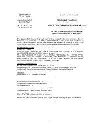 Procès-verbal du Conseil municipal du 27 mars 2013