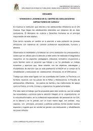 """""""ATENCION A JOVENES EN EL CENTRO DE ADOLESCENTES ..."""