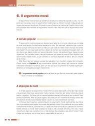 6. O argumento moral - Desidério Murcho