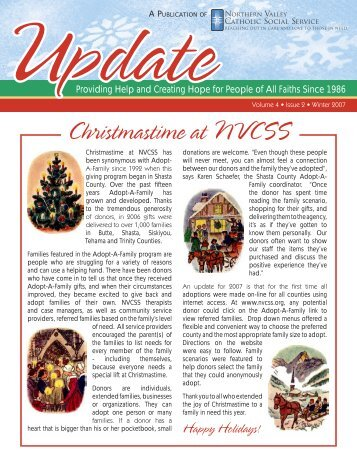 Christmastime at NVCSS - Northern Valley Catholic Social Service