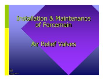Installation & Maintenance of Forcemain Air Relief Valves