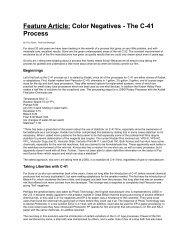 Color Negatives - The C-41 Process