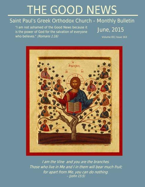 THE GOOD NEWS - Saint Paul's Greek Orthodox Church