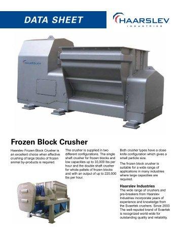 Frozen Block Crusher - Haarslev
