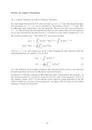 Section 12: Laplace Transforms 12. 1. Laplace Transform as relative ...