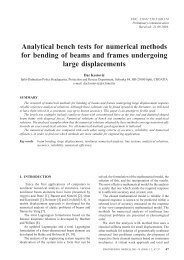 Analytical bench tests for numerical methods for bending of beams ...