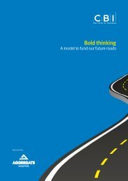 Bold Thinking: A model to fund our future roads - CBI