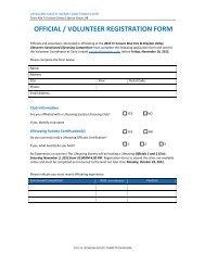 OFFICIAL / VOLUNTEER REGISTRATION FORM - Lifesaving Society